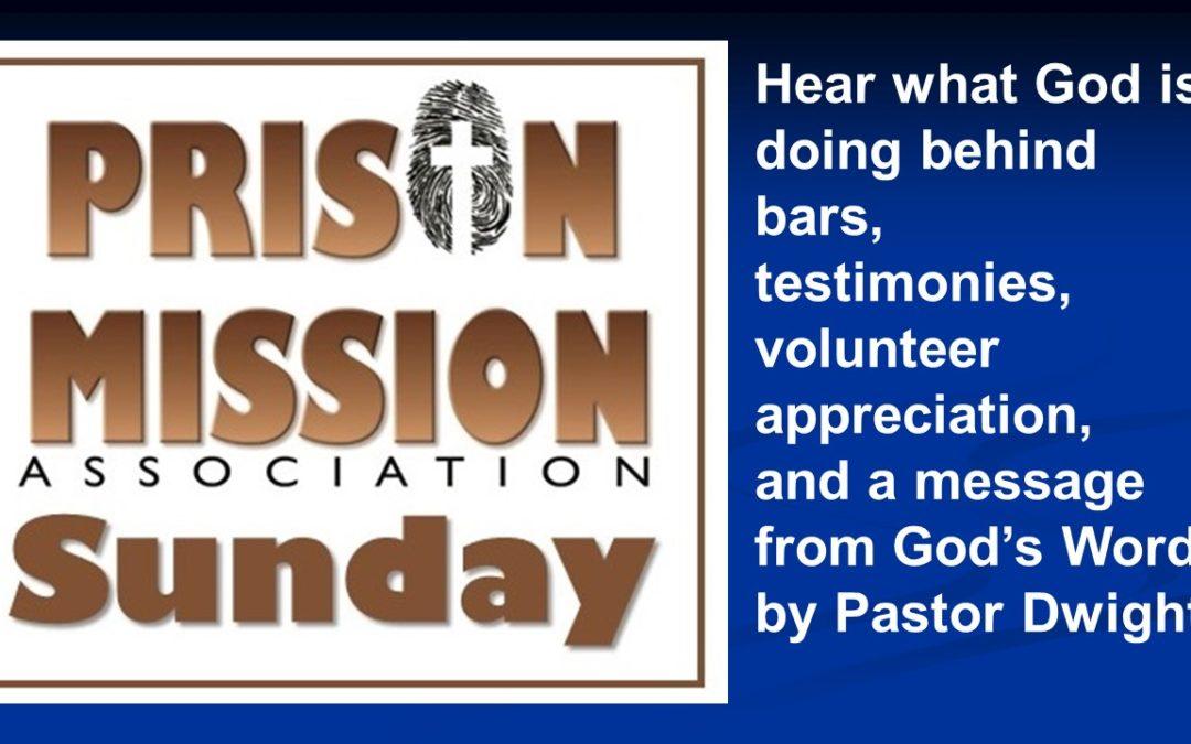 Watch Prison Mission Sunday at Bethesda Church Sept 27 2020